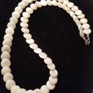 Jewelry - Mother of Pearl Coin Bead Necklace